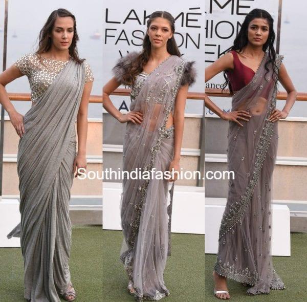 monisha jaising grey sarees lakme fashion week 2017 600x590