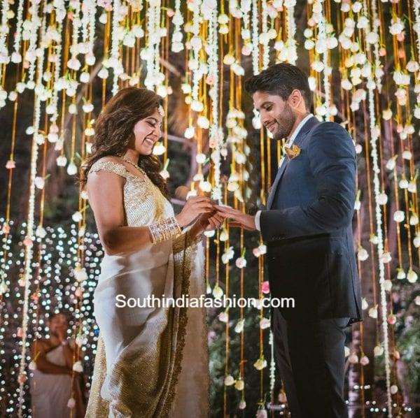 Naga Chaitanya - Samantha Engagement • South India Fashion Sabyasachi Lehenga