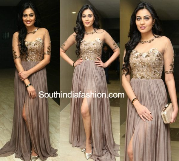 neha-hinge-srivalli-audio-launch-gown