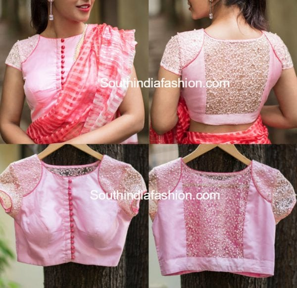 net-blouse-neck-designs