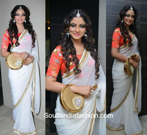 celebs-in-floral-saree-blouse