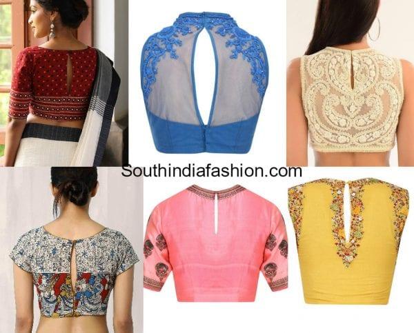 slit-back-neck-blouse-designs-for-sarees