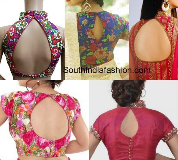 tear-drop-back-neck-blouse-designs
