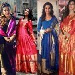 The Bold and Beautiful Kanjeevaram Anarkali