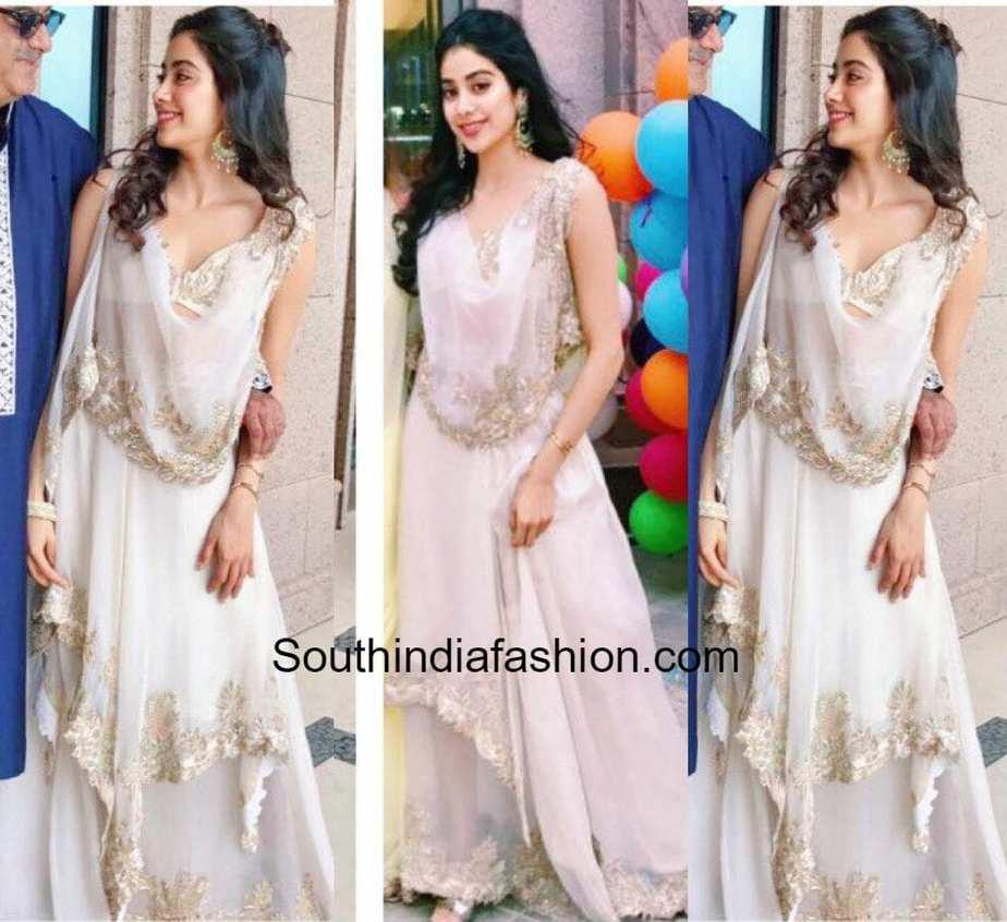 Jhanvi Kapoor In Anamika Khanna South India Fashion