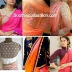 7 Must Have Modern Saree Blouse Designs