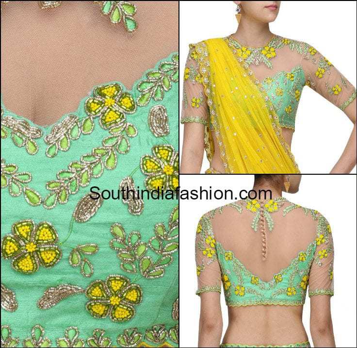 Stunning Floral Embroidered Blouse Designs By Divya Reddy