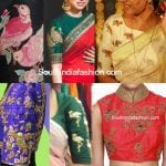 Trend Alert!! Animal and Bird Motif Saree Blouses