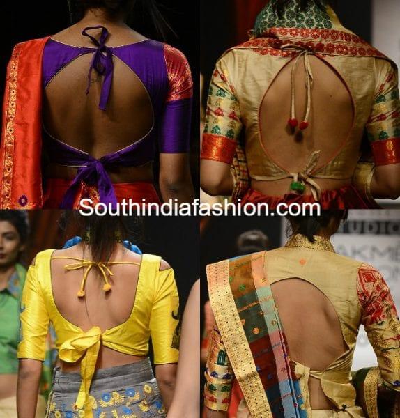 blouse back neck designs 574x600