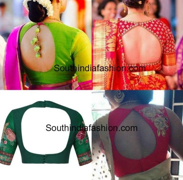 blouse back neck designs silk sarees 600x589