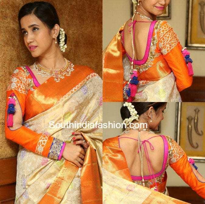 Latest Blouse Designs for Silk Sarees – South India Fashion