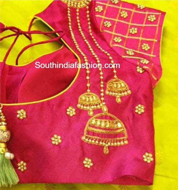 Saree Embroidery Work Designs