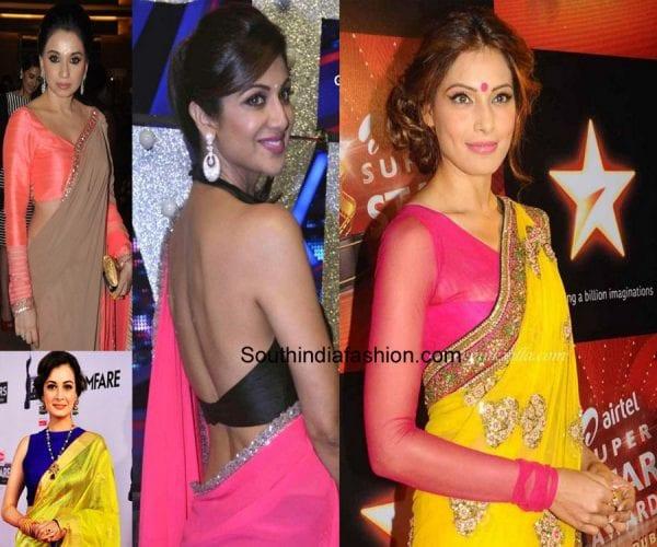 saree-blouse-contrast-colour