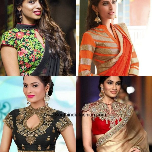 modern-saree-blouse-designs-high-neck-blouses