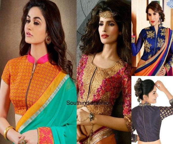 zipper-saree-blouses