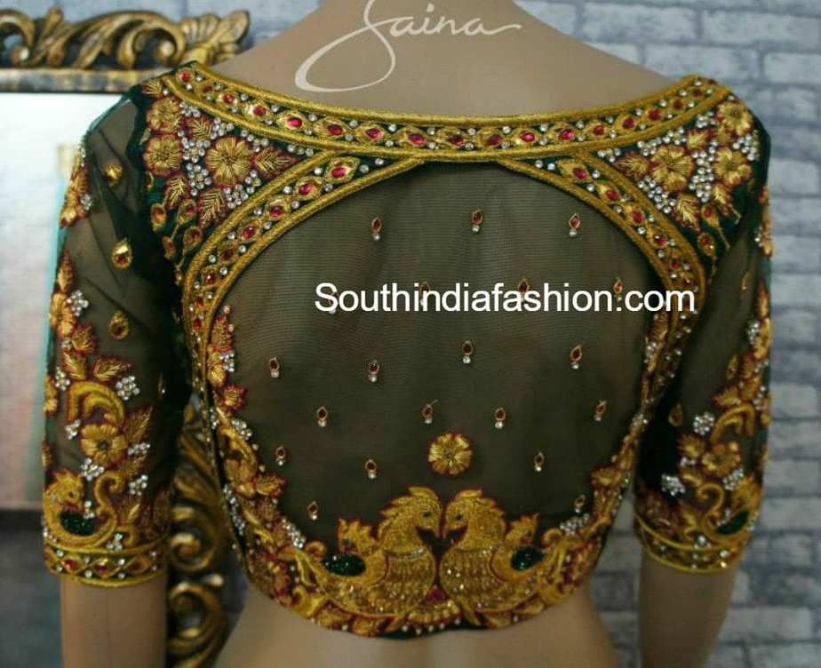 Heavy maggam work bridal blouses by zaina south india fashion for Designs com