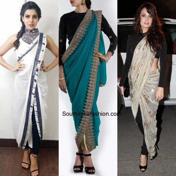 1e66f272d3aedf 7 Gorgeous Saree Pallu Drapes Style – South India Fashion