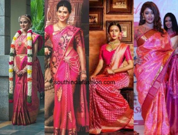 pink bridal kanjeevaram saree 3 600x456