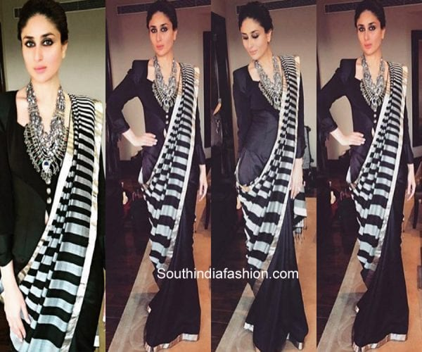 saree pallu draping style loose pallu 600x500
