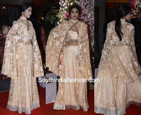 shriya saran manish malhotra neil nitin wedding reception 600x488