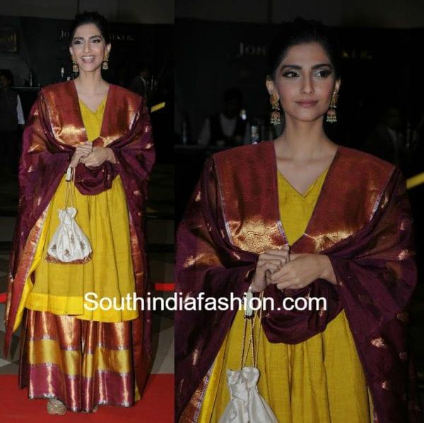 sonam kapoor gaurang Lokmat Maharashtra most stylish 600x598