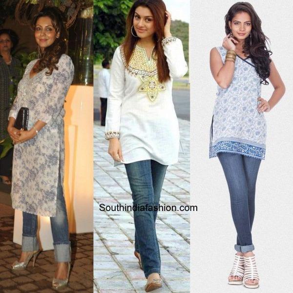 8 Stylish Ways To wear Kurtis For Stunning Look u2013 South India Fashion