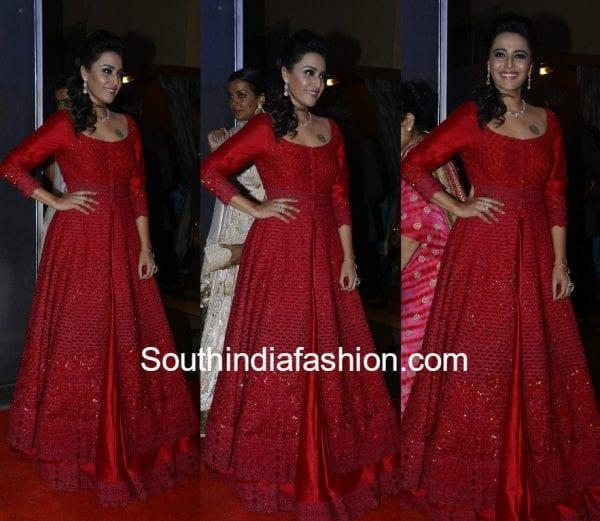 swara bhaskar jade by monica karishma neil nitin wedding reception 600x521