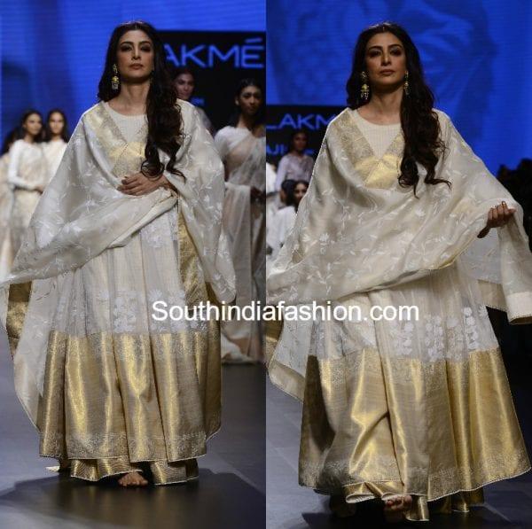 tabu white anarkali gaurang shah lakme fashion week 2017 600x597