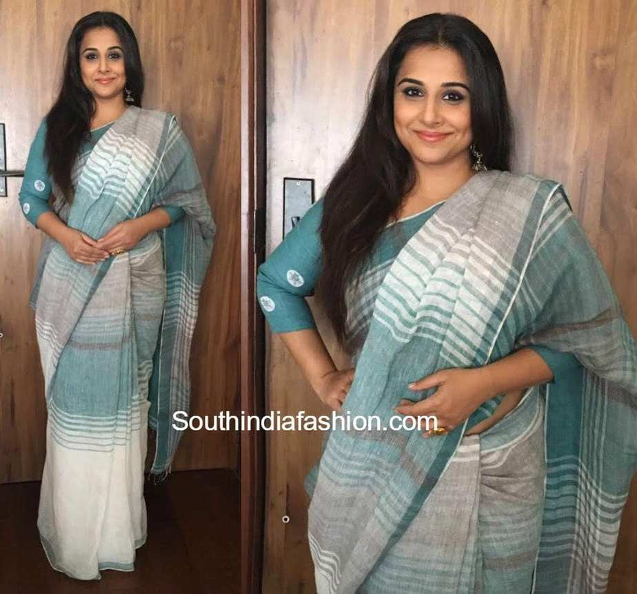 Vidya Balan In Eka Saree • South India Fashion