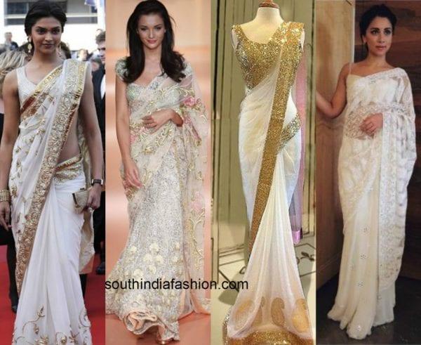 white designer sarees 1 600x491