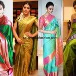 Best Ever Green Kanjeevaram Saree Combinations