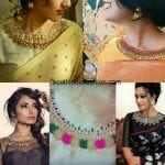 The All New Embellished Necklace Blouse Designs
