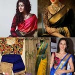 Printed Blouses For Your Kanjeevaram Sarees