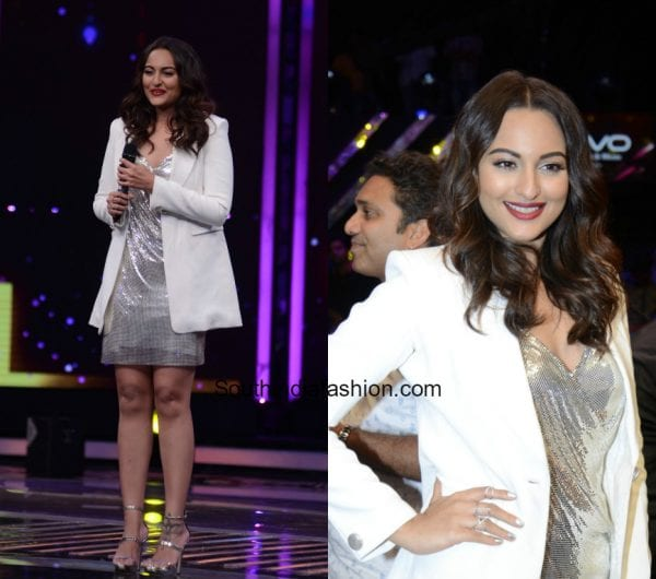 Sonakshi Sinha in a western look on the sets of Dil Hai Hindustani for Noor promotions