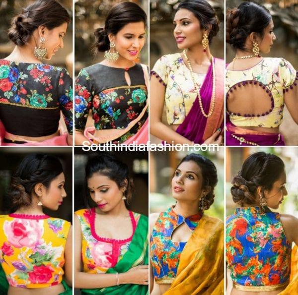 floral-blouses-sarees