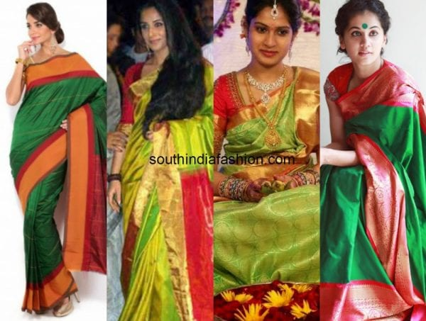 green_with_red_kanjeevaram_saree (1)