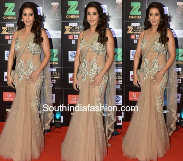 krishika-lulla-saree-gown-zee-cine-awards