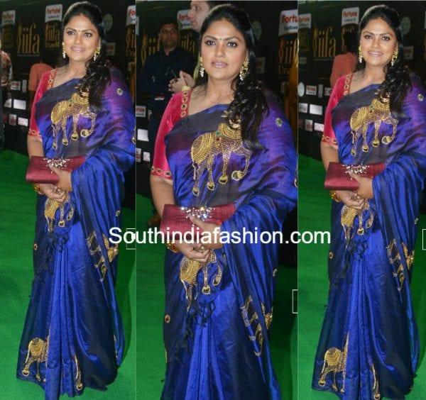 nirosha-nandi-motif-silk-saree-iifa-utsavam-awards-2017