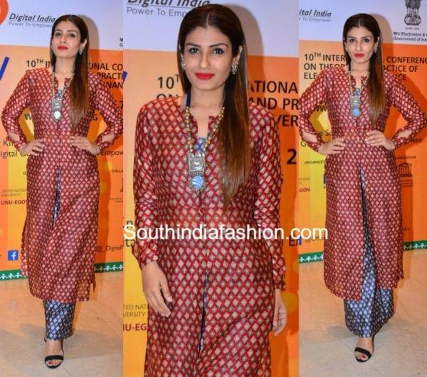 raveena-tandon-printed-palazzo-suit