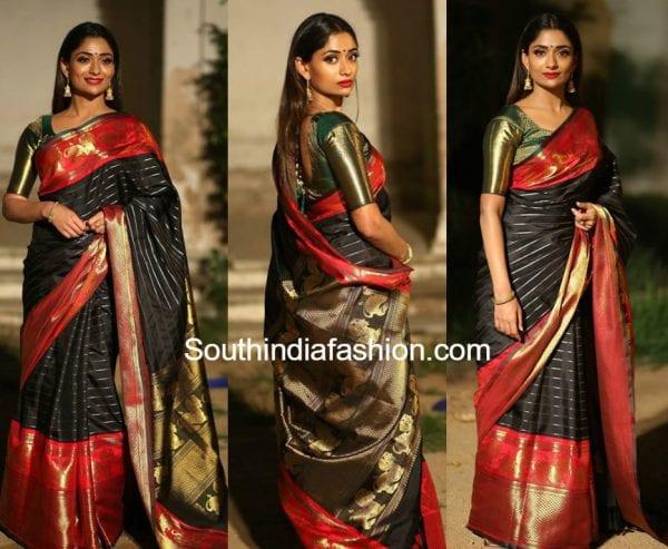 sandhya-raju-black-kanjeevaram-saree