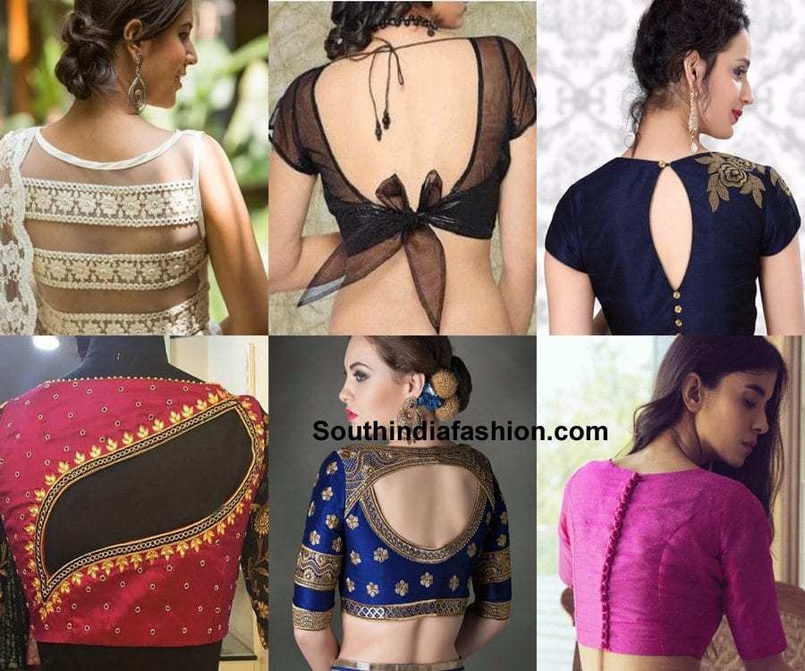 6 Smart Blouse Back Designs For A Glam Look South India