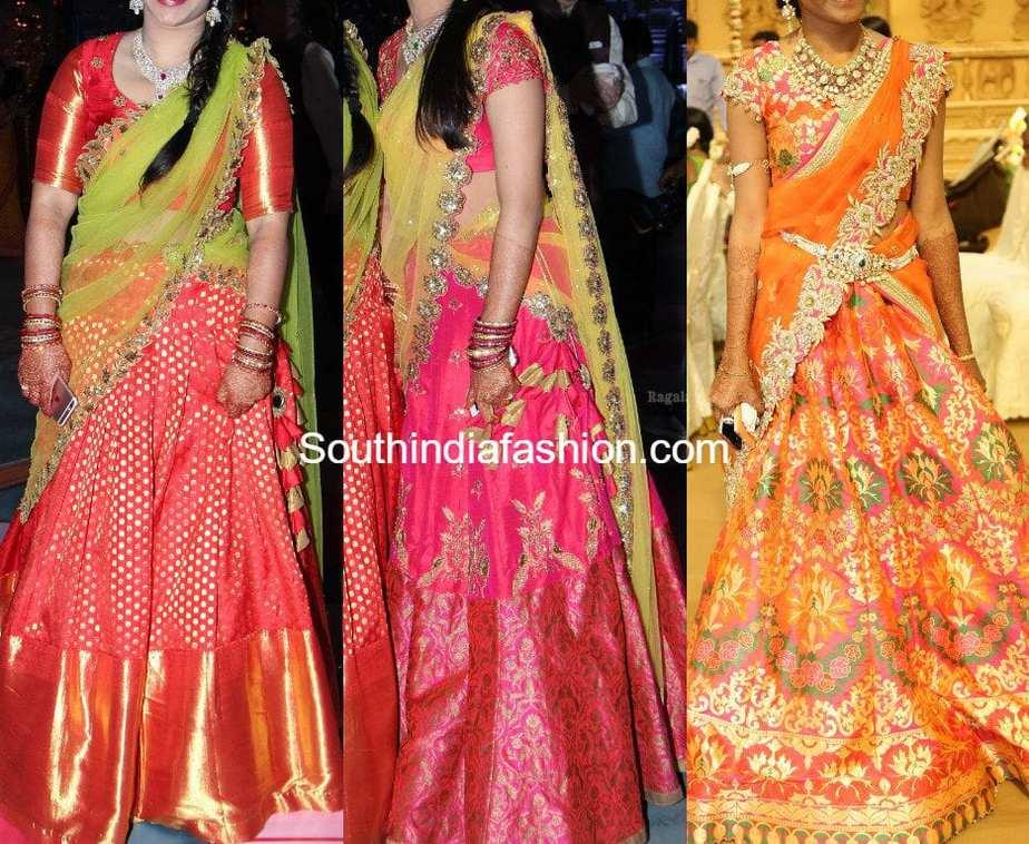 Silk Half Saree Designs