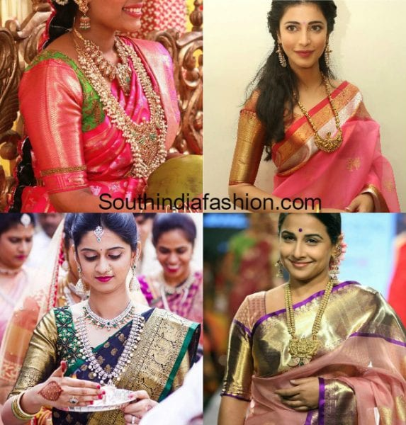 silk-saree-blouse-designs-with-big-borders