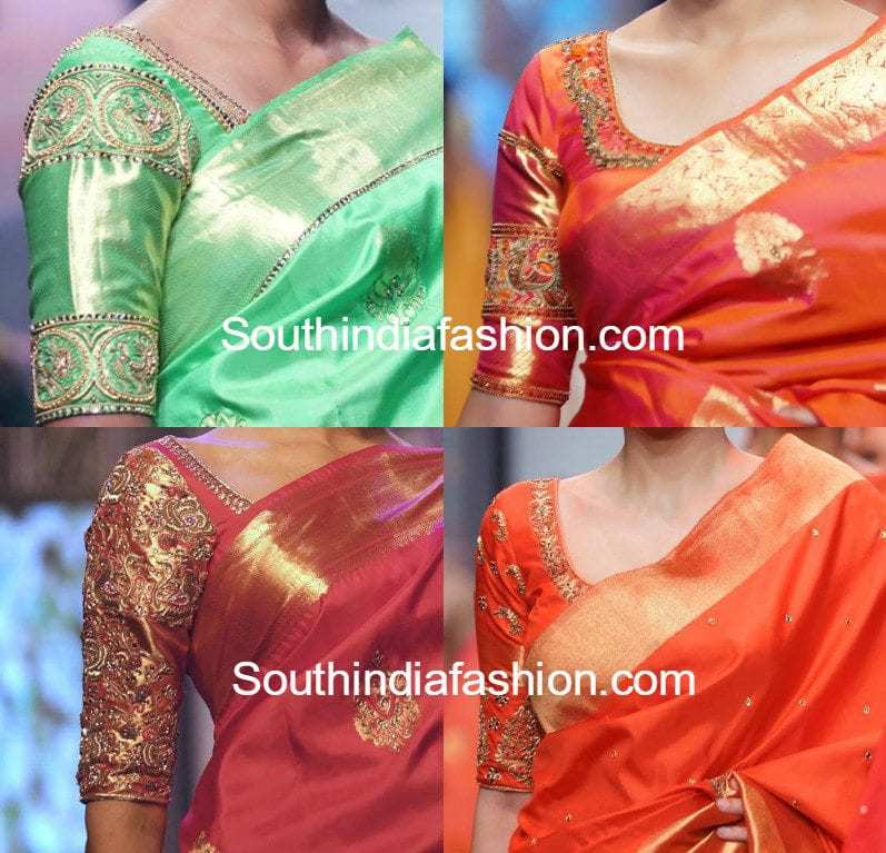 Simple Embroidered Blouse Designs For Silk Sarees South India Fashion