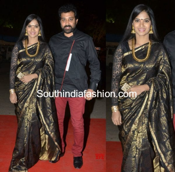 siva balaji wife madhumitha swapna madhuri silk saree 600x589