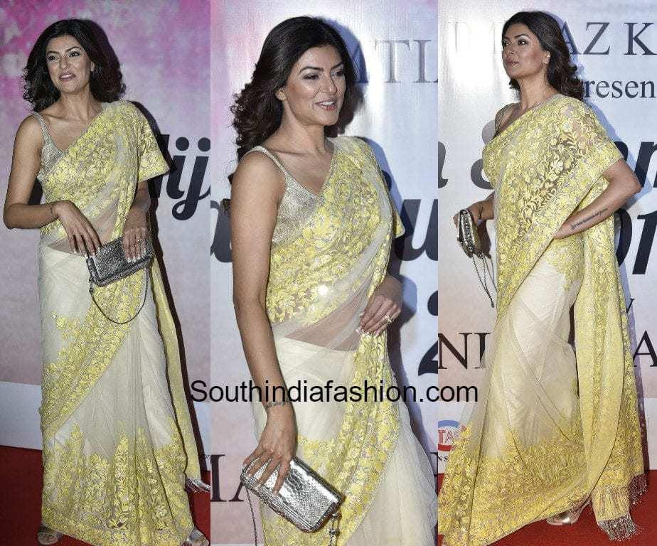 Sushmita Sen In Manish Malhotra South India Fashion