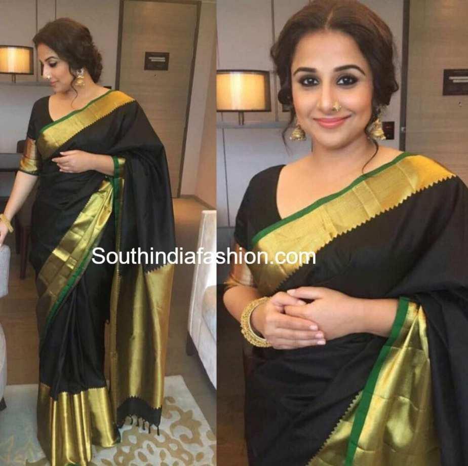 4035216f302da5 Vidya Balan in Ayush Kejriwal – South India Fashion
