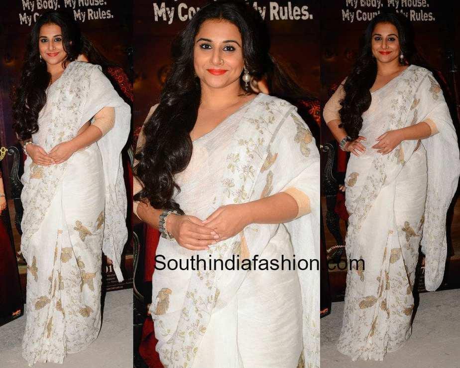e8bf5105d5d6a8 Vidya Balan in Anavila saree – South India Fashion