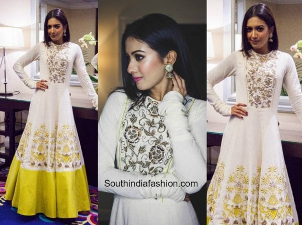Catherine Teresa in Divya Reddy outfit for the premier of her upcoming movie