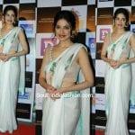 Divya Khosla Kumar in a White Saree